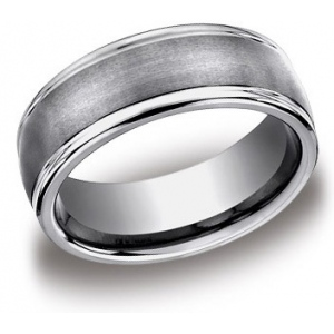 Tungsten Wedding Band, 8mm Wide: Size 11.0