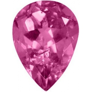 Pear Shape Synthetic Rose Zircon: 15.0mm x 10.0mm, 5.00cts