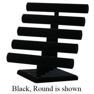 5-Tier, Bangles, Bracelet & Watch T-Bar: Black, Oval