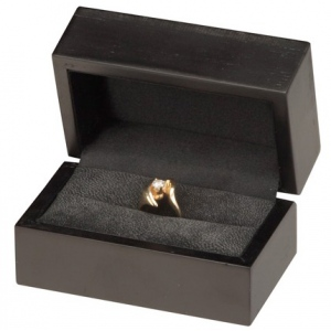 Moderna Double Ring Box: Black
