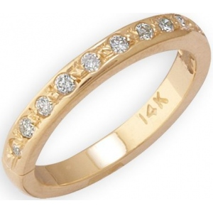 14k Yellow Gold Diamond Toe Ring: Size 2.5