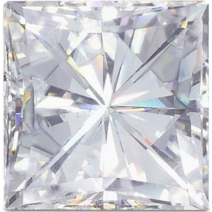 Forever Brilliant Princess Moissanite: 6.0mm