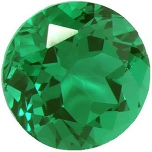 Synthetic Round Emerald: 1.5mm, 0.015cts