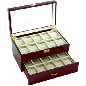 See Through 20-Watch Box: Cherry-Finish