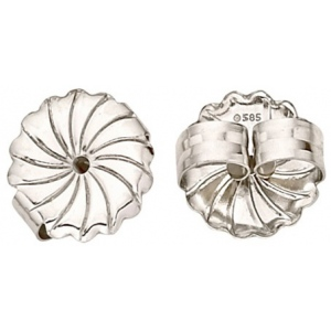 "18k White Jumbo Earring Back: 0.030"" - 0.040"" Hole"