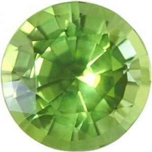 Synthetic Round Peridot: 3.0mm, 0.10cts
