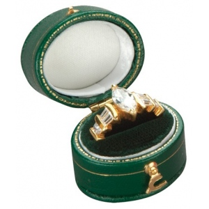 Oval Shape Ring Box (Assorted Colors)
