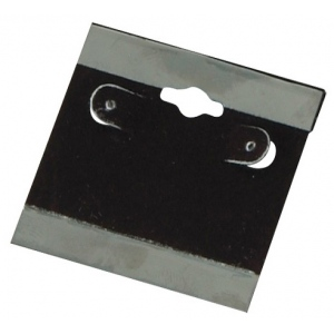"2"" x 2"" Hang Cards: Black, Pack of 200"