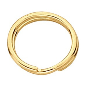 "4.75mm Split Ring: 14k Yellow, 0.027"" Wire"