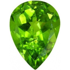 Pear Shape Synthetic Peridot: 15.0mm x 10.0mm, 5.00cts