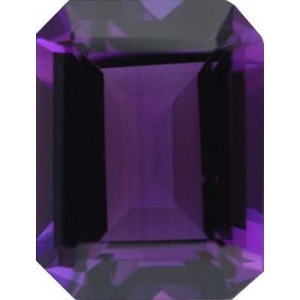 Emerald Cut Synthetic Amethyst: 18.0mm x 13.0mm