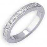 14k White Gold Diamond Toe Ring: Size 4.0