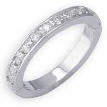 14k White Gold Diamond Toe Ring: Size 4.25