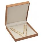 Safari Large Necklace Box: Camel/Off-White