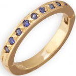 14k Yellow Gold Blue Sapphire Toe Ring: Size 4.0