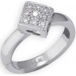 14k White Gold Diamond Shape with Diamond Toe Ring: Size 2.5