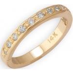 14k Yellow Gold Eternity Diamond Toe Ring: Size 2.75