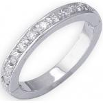 14k White Gold Eternity Diamond Toe Ring: Size 2.25