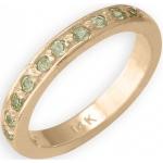 14k Yellow Gold Peridot Toe Ring: Size 3.5