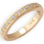 14k Yellow Gold Diamond Toe Ring: Size 2.25