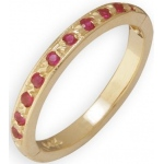 14k Yellow Gold Ruby Toe Ring: Size 1.75