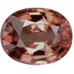 Oval Synthetic Rose Zircon: 18.0mm x 13.0mm